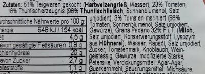 Fusilli mit Thunfisch und Tomaten - Ingrédients - de