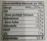 Extrawurst - Informations nutritionnelles - de