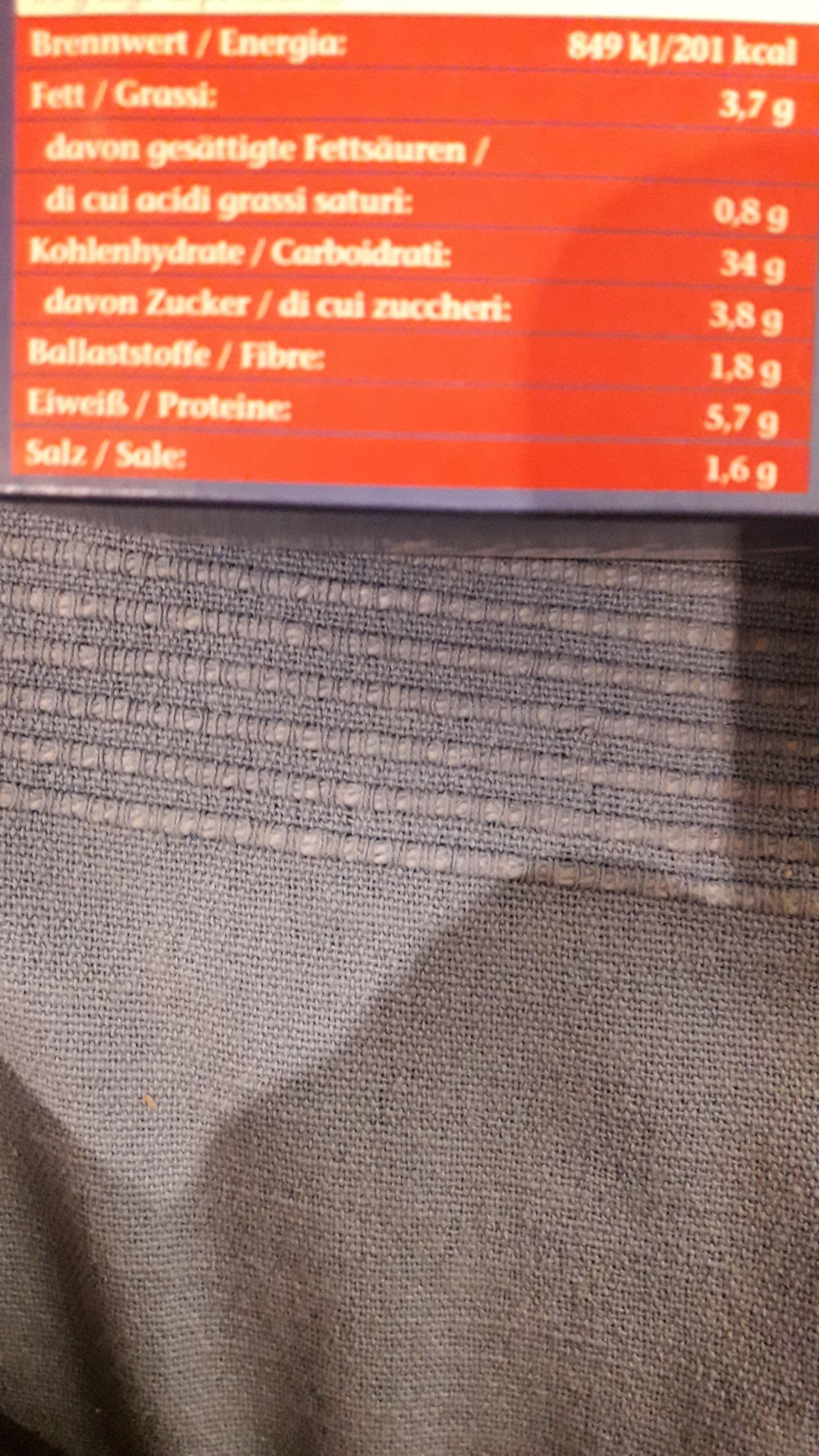 Pizza-Kombi - Nährwertangaben - de
