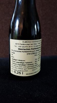 Steirisches Kürbiskernöl - Ingredienti - de