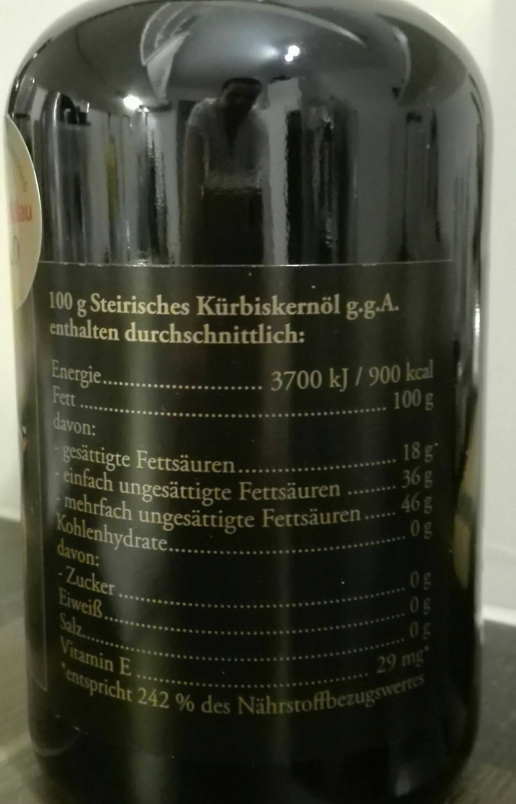 Steirisches Kürbiskernöl - Valori nutrizionali - en
