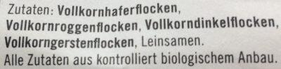 Bio Naked Müsli - Ingredients - en