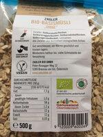 Bio Naked Müsli - Nutrition facts - en