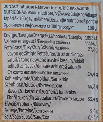 Penny Prajitura cu umplutura de lapte si miere - Informations nutritionnelles