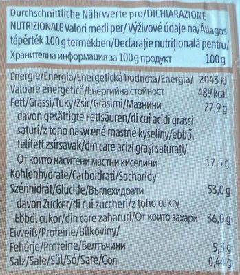 Penny Prajitura cu umplutura de lapte si glazura de cacao - Informations nutritionnelles