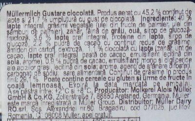 Muller Baton pufos cu umplutura de ciocolata - Ingrédients