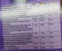 Milka choco snack - Voedingswaarden - fr