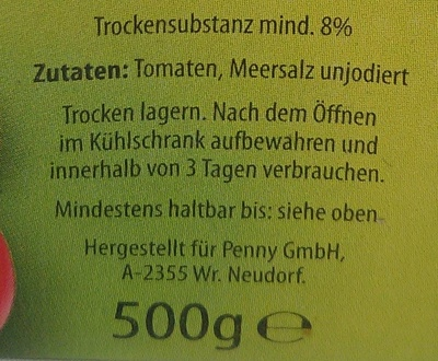 Passierte Tomaten - Ingredients - de