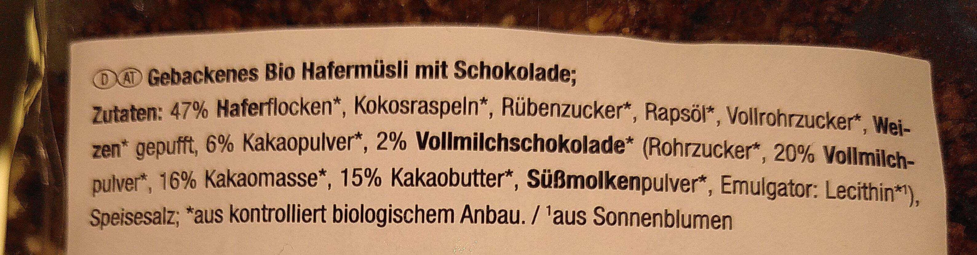 Crunchy Schoko - Ingrediënten - de