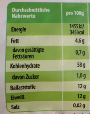 Basis Müsli - Nutrition facts - de