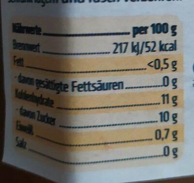 Sukrin Fruchtaufstrich, 80% Frucht, Aprikose, 2 X - Informations nutritionnelles - fr