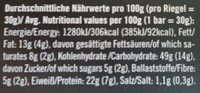 Neoh Raspberry - Nutrition facts - de