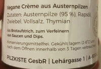 Pilzkiste Premium Austernpilzcreme - Ingrediënten - de