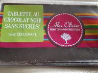 Tablette chocolat noir avec édulcorant - Product