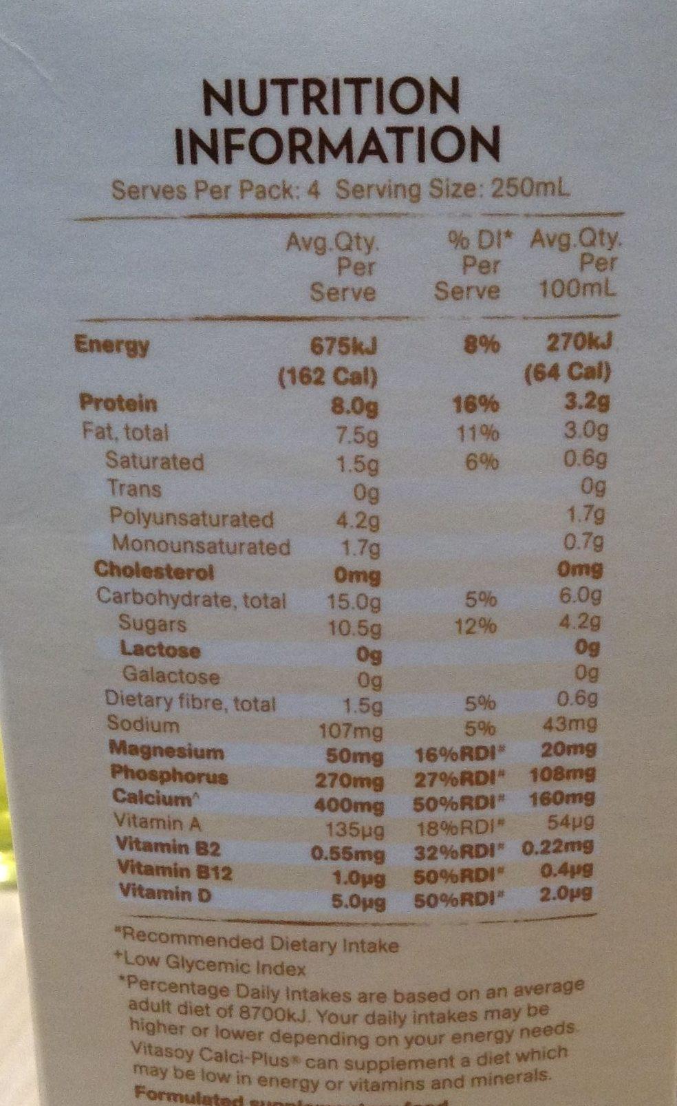Australian Grown whole organic soybeans - Nutrition facts - en