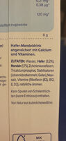 HaferMandel - Ingrédients