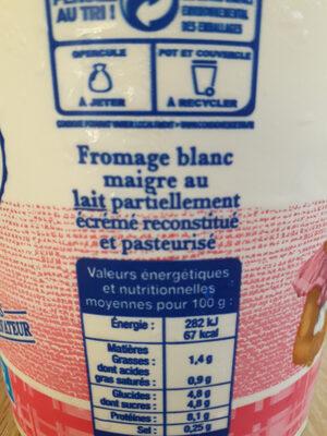 fromage blanc maigre nature - Ingredienti - fr