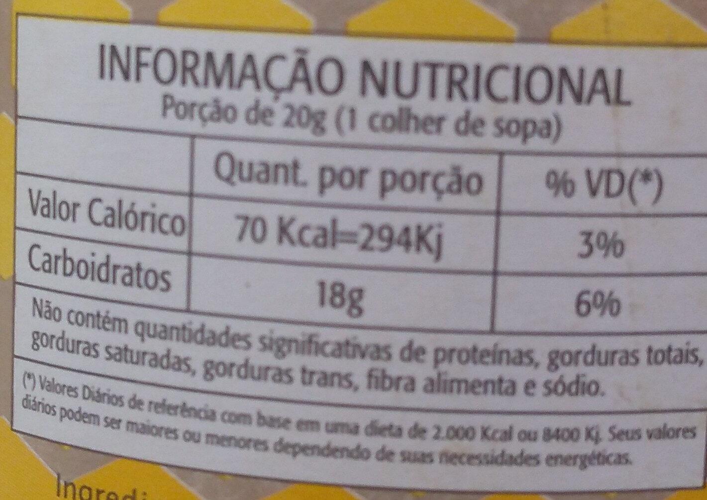 mel - Informação nutricional - pt