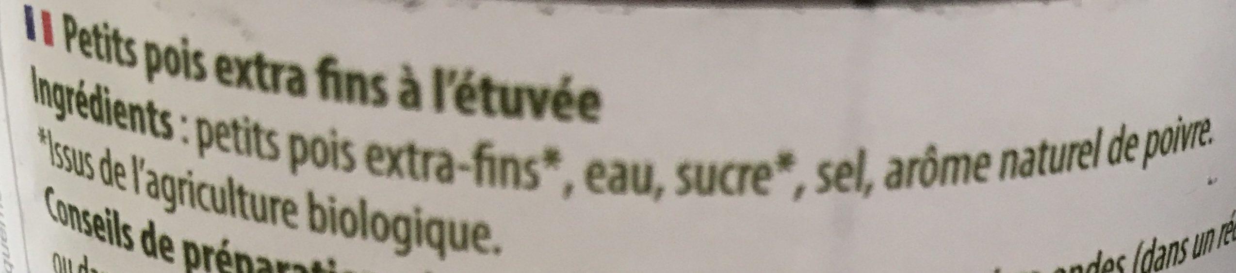 Petits pois à l'étuvée - Ingrediënten - fr