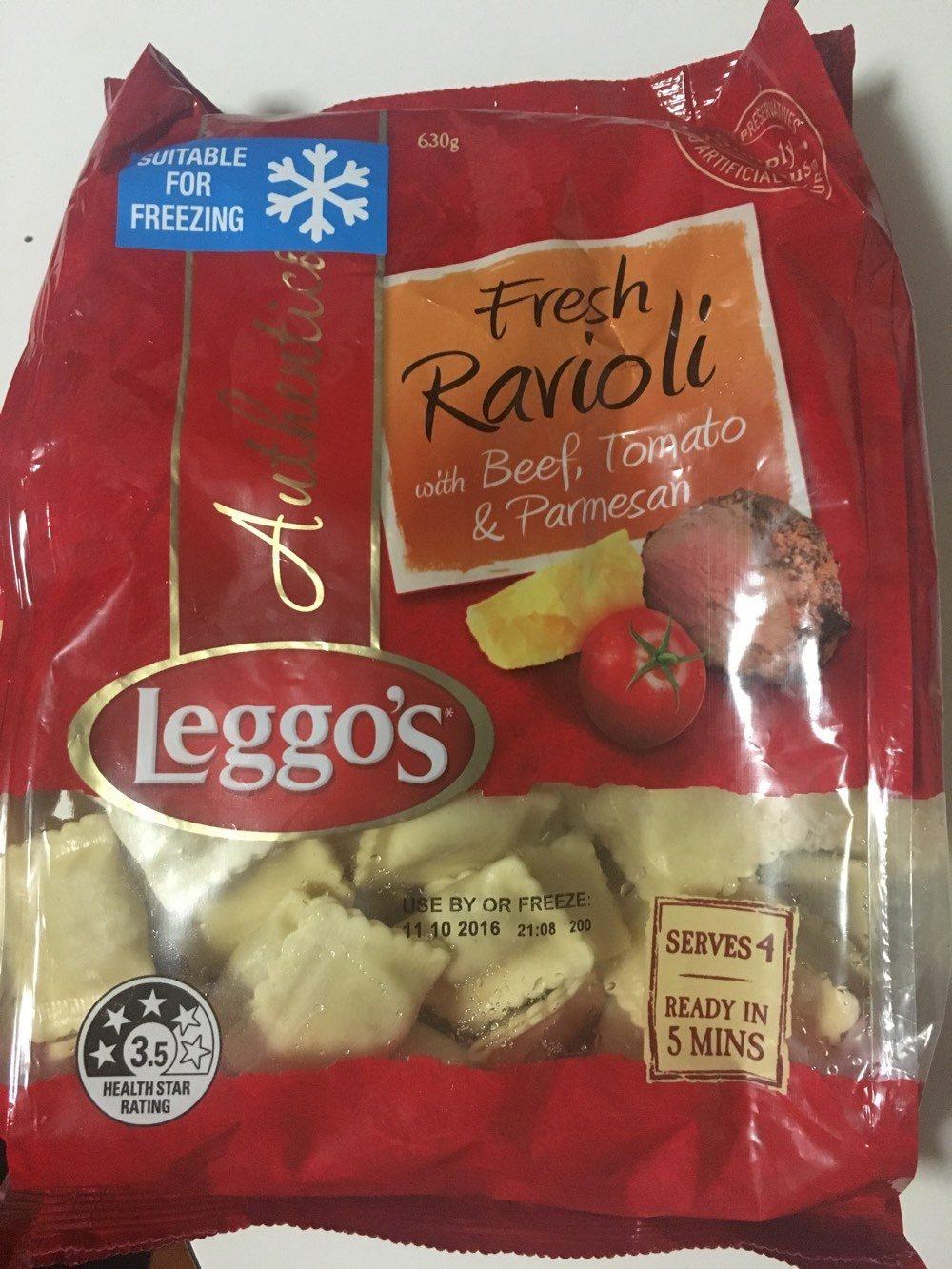Fresh Ravioli with Beef, Tomato & Parmesan - Produit - fr