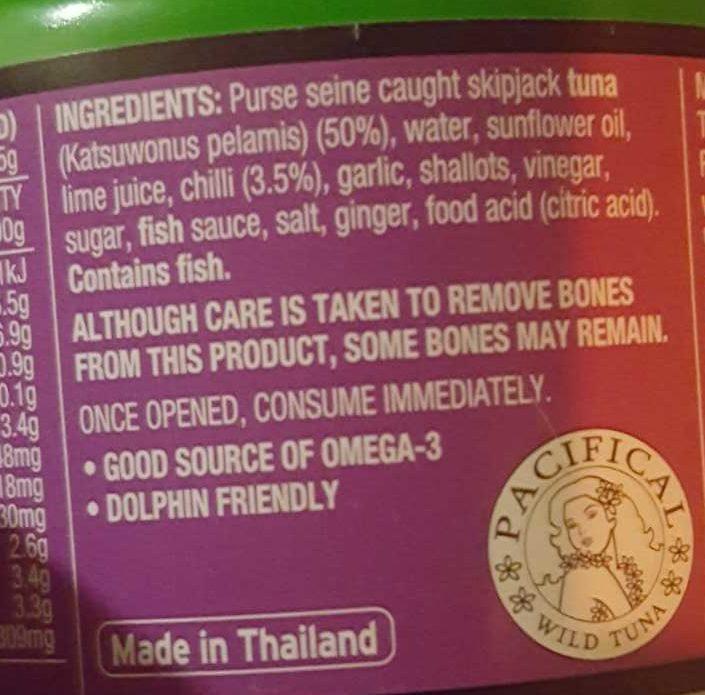 John West Street Asian Indonesian Sambal, Chilli & Tuna - Ingredients - en