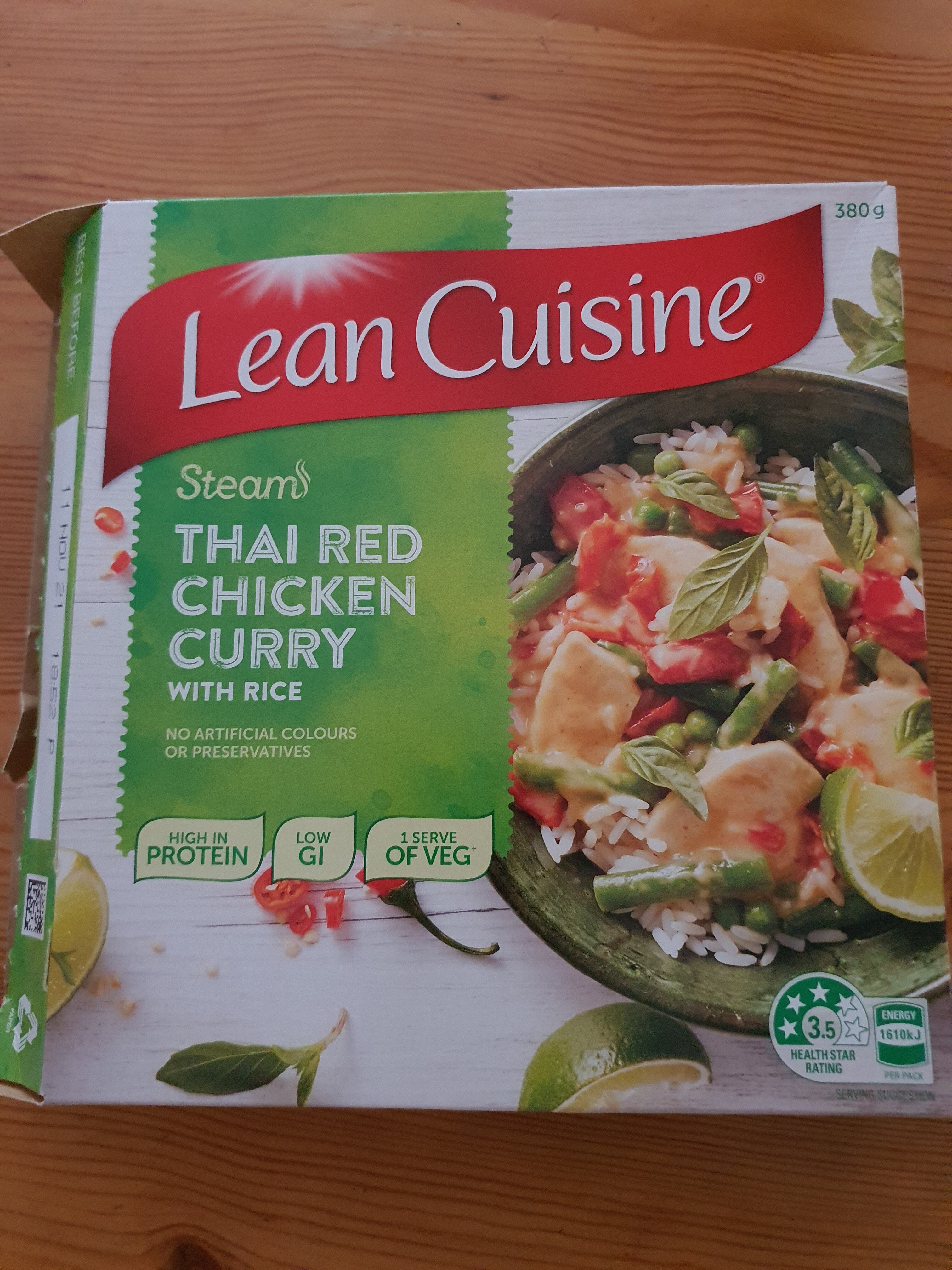 Thai red Chicken Curry with rice - Product - en