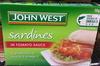 John West Sardines in Tomato Sauce - Product