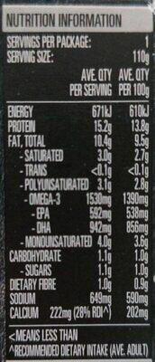 Sardines in Tomato Sauce - Voedingswaarden - en
