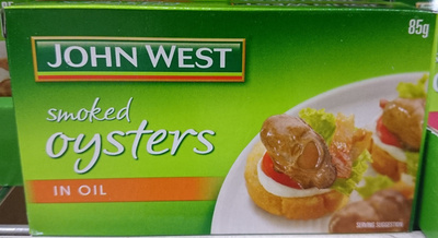John West Smoked Oysters in Oil - Product