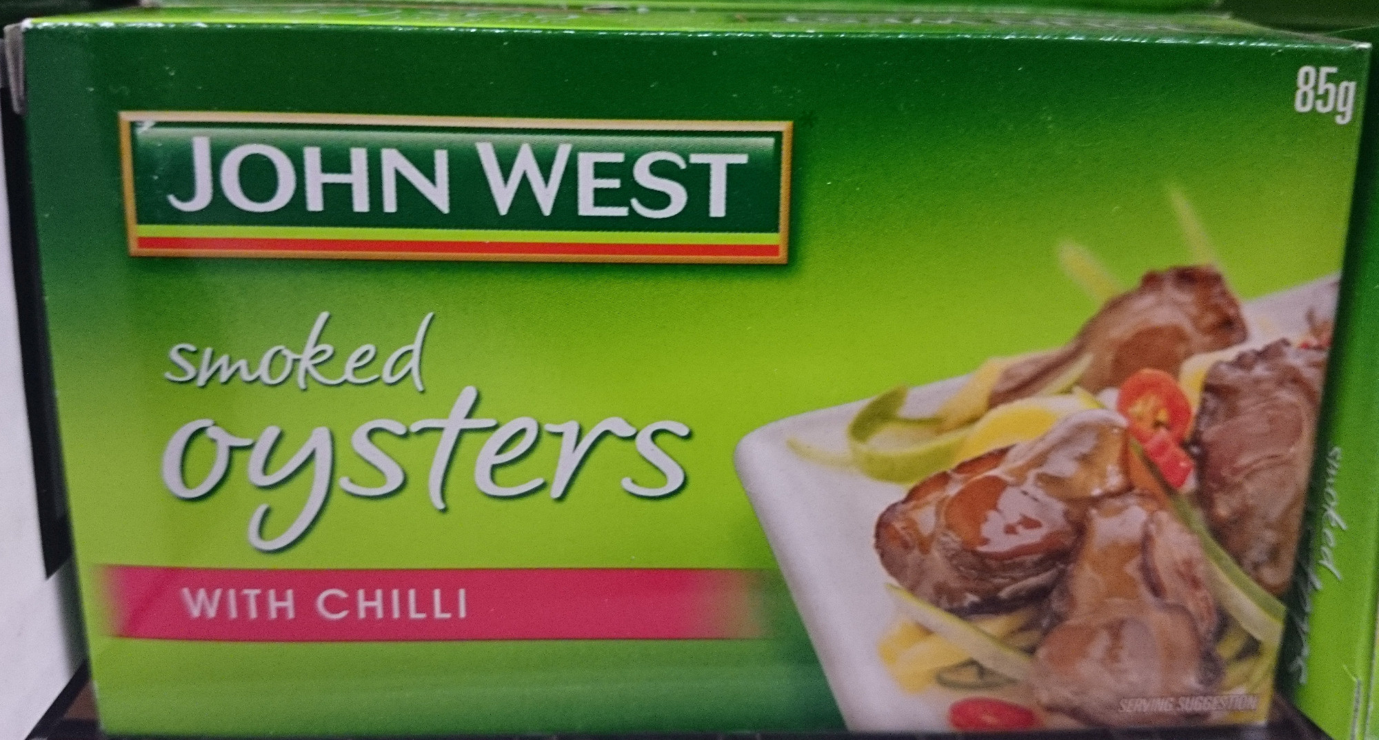 John West Smoked Oysters with Chilli - Product - en