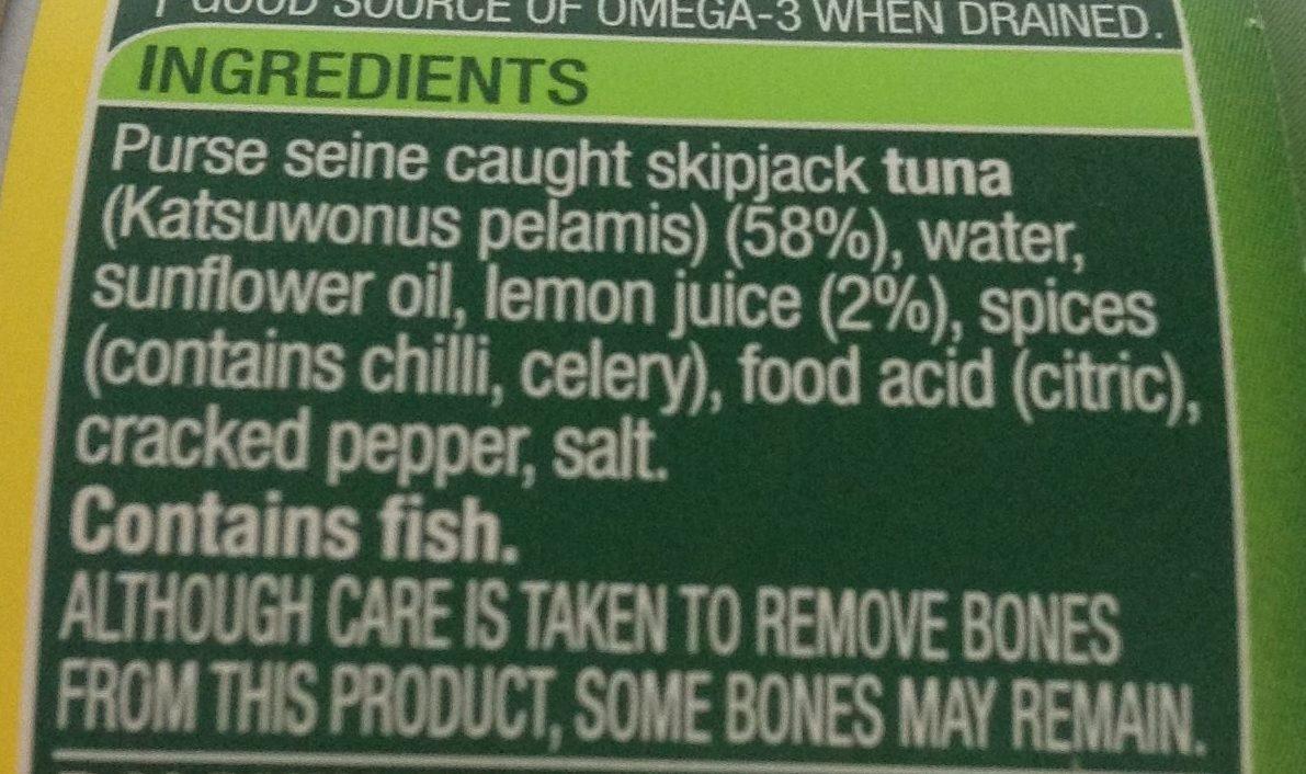 Tempters Tuna Lemon & Cracked Pepper - Ingredients - en