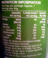 Light Sour Cream - Informations nutritionnelles - en