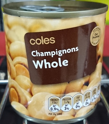 Coles Whole Champignons - Product