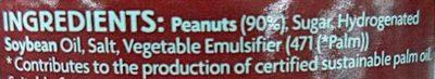 Crunchy peanut butter - Ingredients