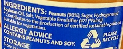 Smooth Peanut Butter - Ingredients