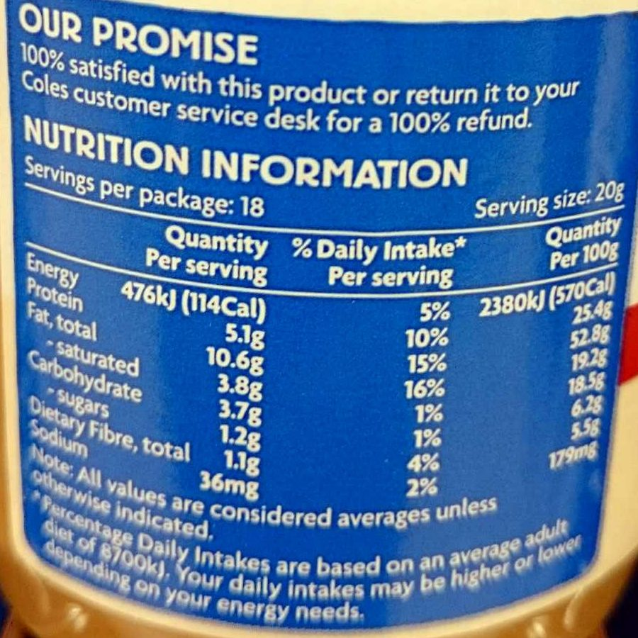 Smooth Peanut Butter - Nutrition facts - en