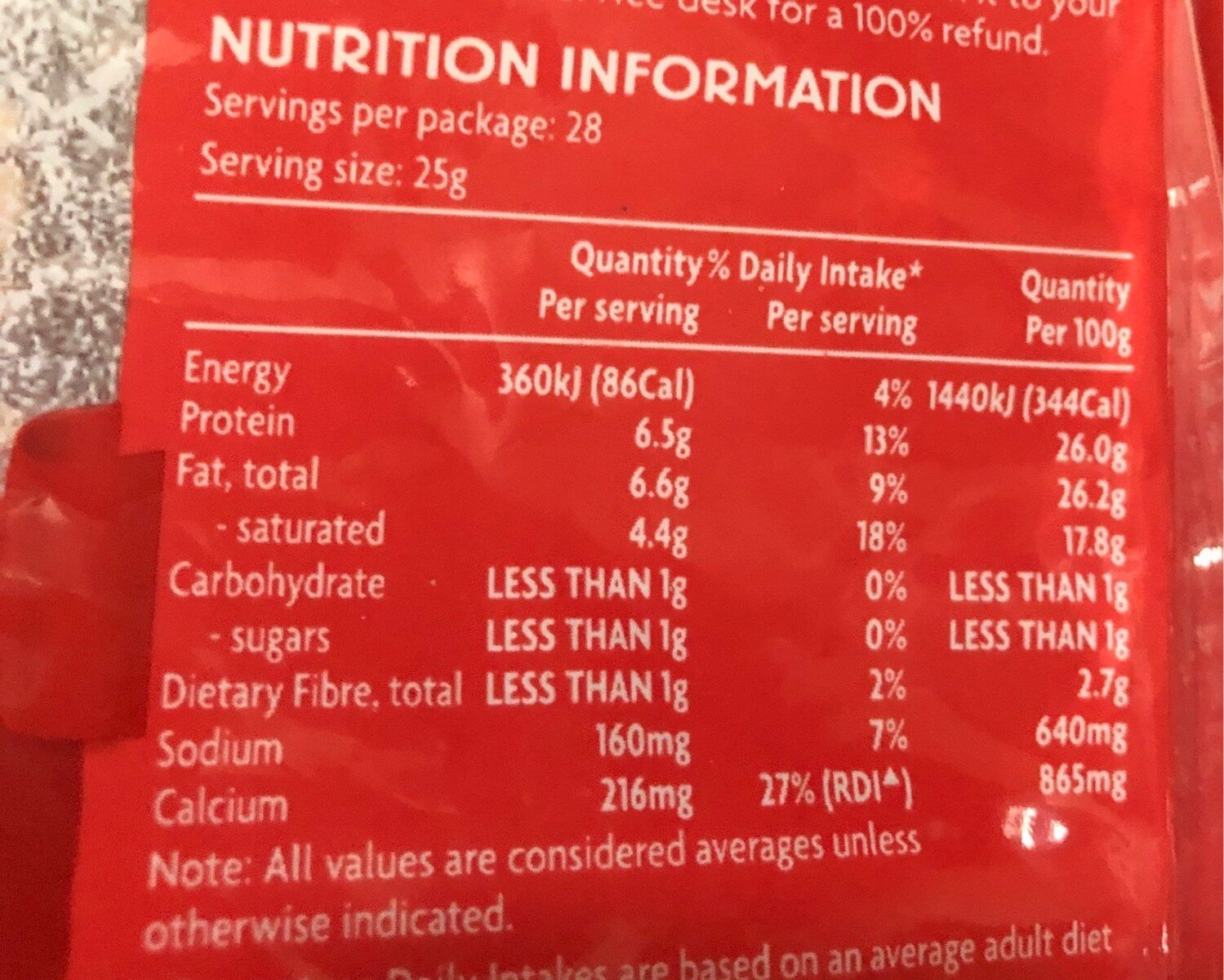 Pizza blend shredded cheese - Nutrition facts - en