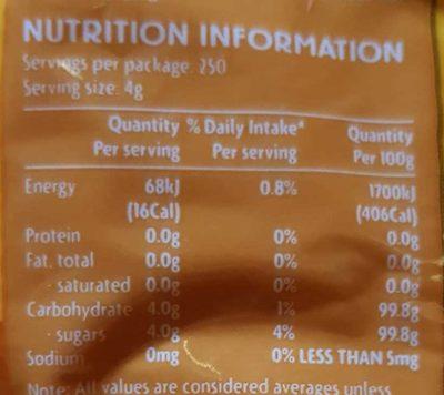Coles Australian Raw Sugar - Nutrition facts