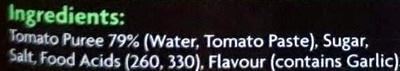 Tomato Sauce - Ingredients