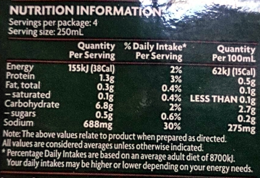 Chicken Noodle Soup Dried Soup Mix - Nutrition facts