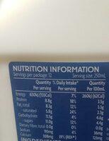 Australian fresh full cream milk - Voedingswaarden - en