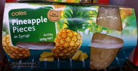 Coles Pineapple Pieces in Syrup - Product - en