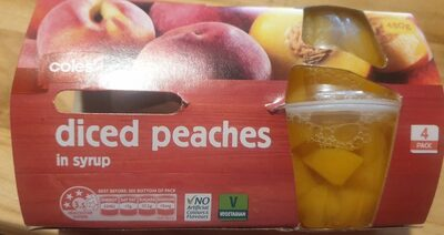 Diced Peaches in syrup - Product - en