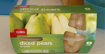Coles Diced Pears in Syrup - Product - en