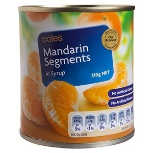 Coles Mandarin Segments in Syrup Canned - Product