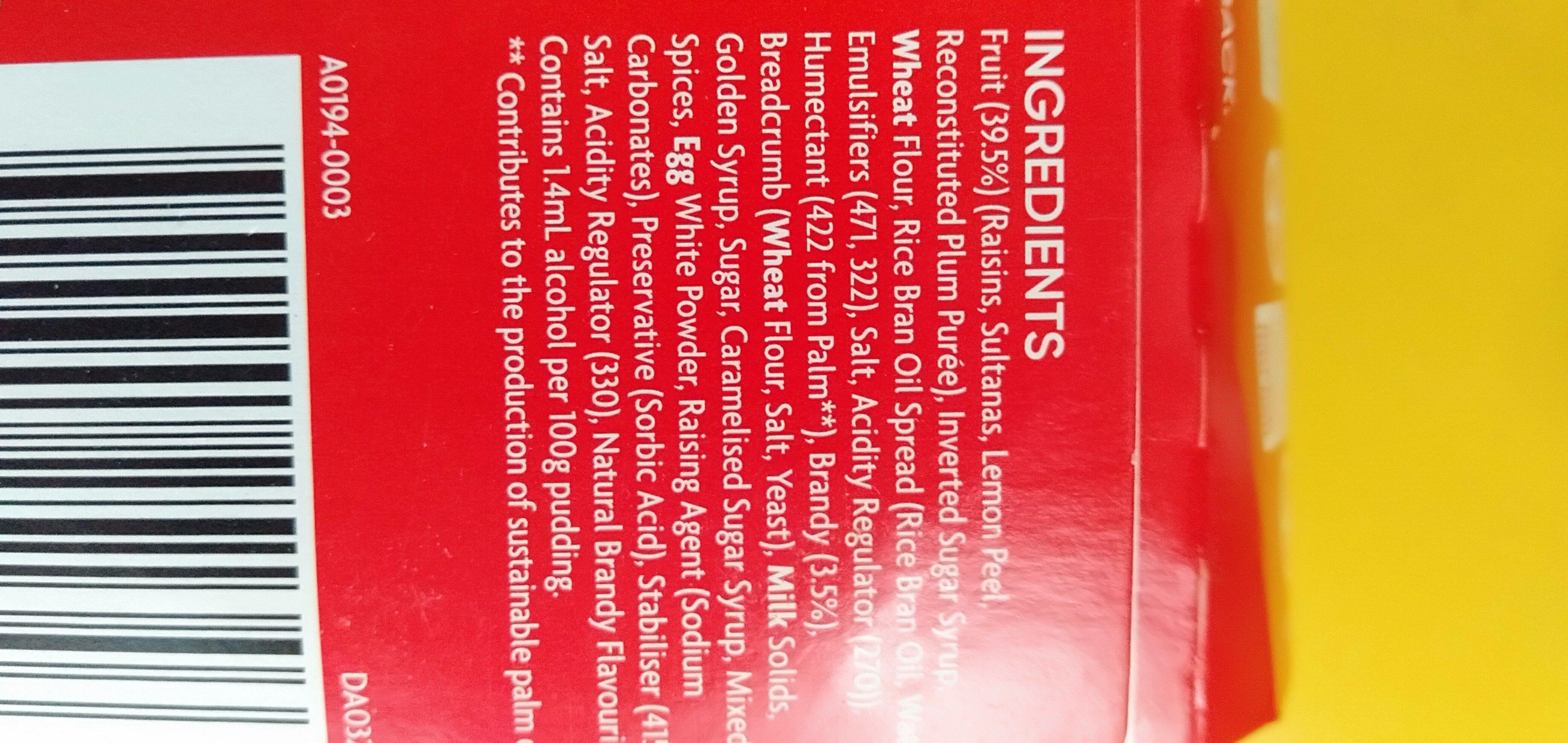 Christmas pudding - Ingredients - en