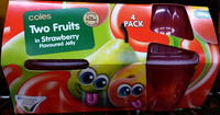 Coles Two Fruits in Strawberry Flavoured Jelly - Product - en