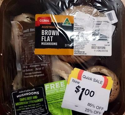 Australian Brown Flat Mushrooms - Product