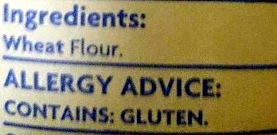White Plain Flour - Ingredients - en