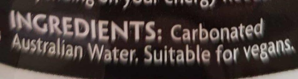 Soda Water - Ingredients